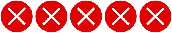 Rating: Fünf rote Kreuze, dh. nicht zutreffend.